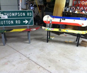 Snowboard Benches