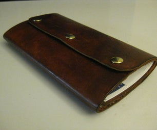 DIY Leather Document Wallet
