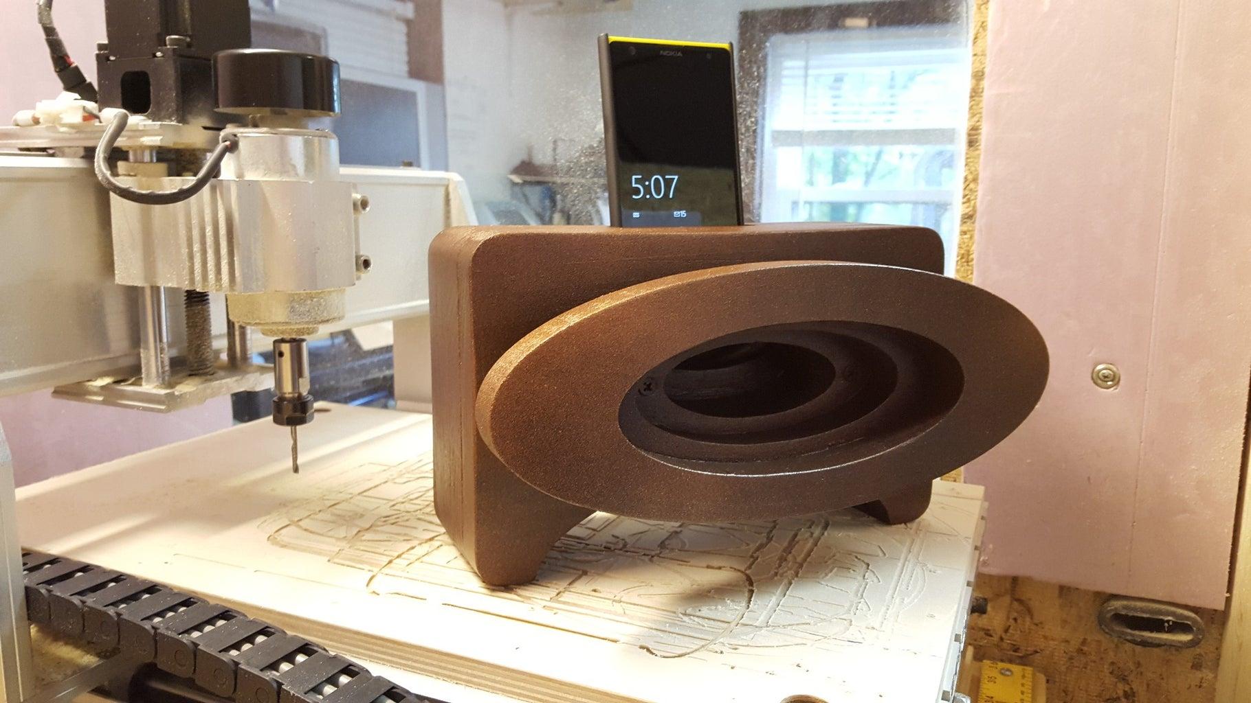 Passive Phone Speaker - a CNC Project
