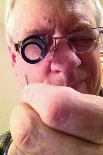 Eyeglass Loupe Holder