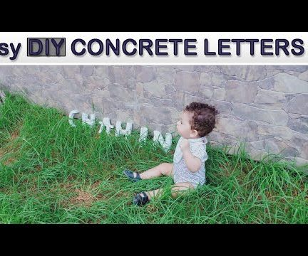 How to Make Concrete Letters