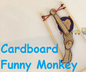 Cardboard Toy - the Funny Monkey