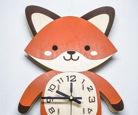 Kids Pendulum Fox Clock
