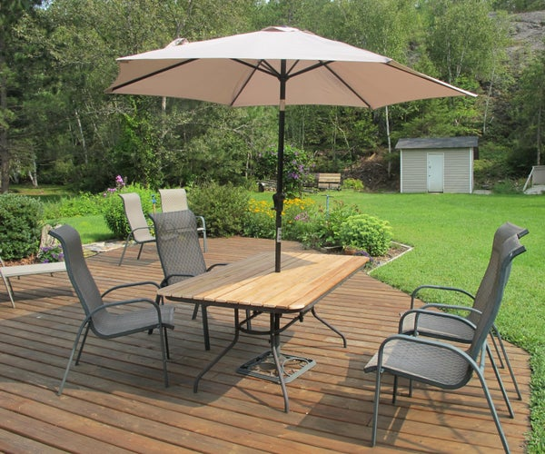 Wood Replacement for Glass Patio Table