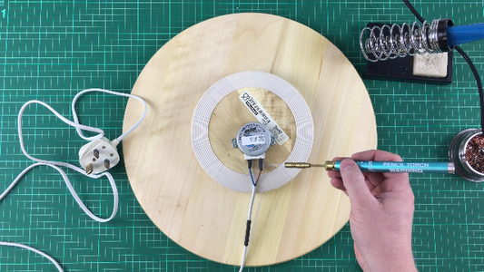 Solder Cable to Motor
