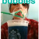 Coffee Cup Bubbles Dispenser with Straw Wand