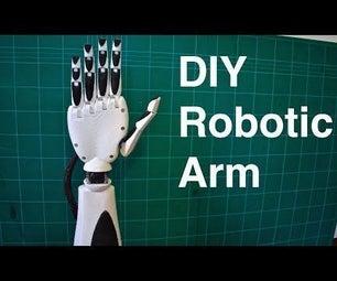 Robotic Arm 3D Printed (DIY Initial Prosthetic Prototype)