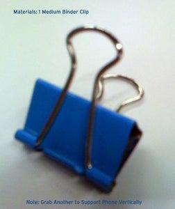 Step 1: Procure 1 or 2 Medium Sized Binder Clips