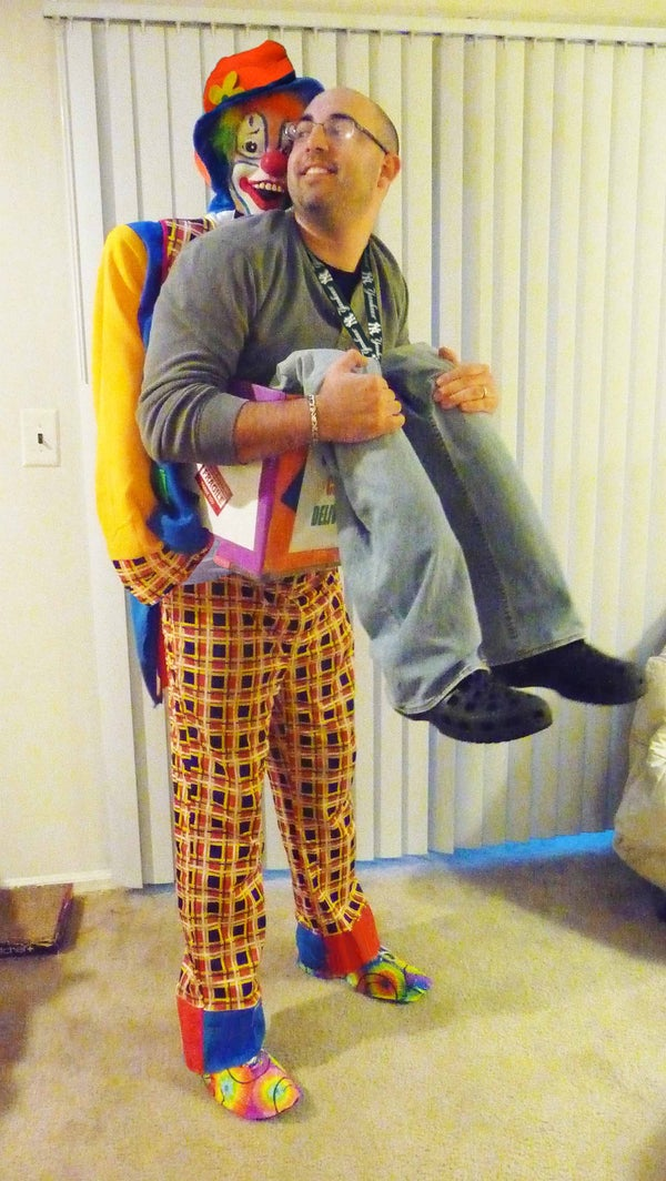 """""""Class Clown Delivery"""" Halloween Illusion Costume"""