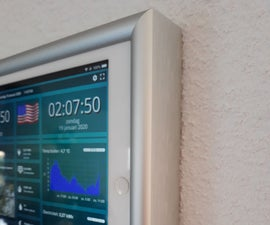 Wall Mount for IPad As Home Automation Control Panel, Using Servo Controlled Magnet to Activate Screen