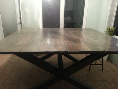 Clean Up and Stain the Table Top
