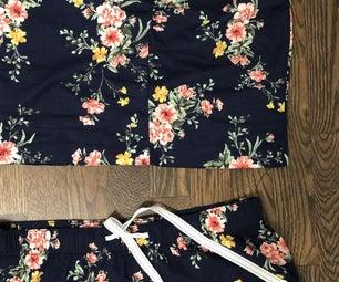 DIY Cami and Shorts Set From Pajama Pants