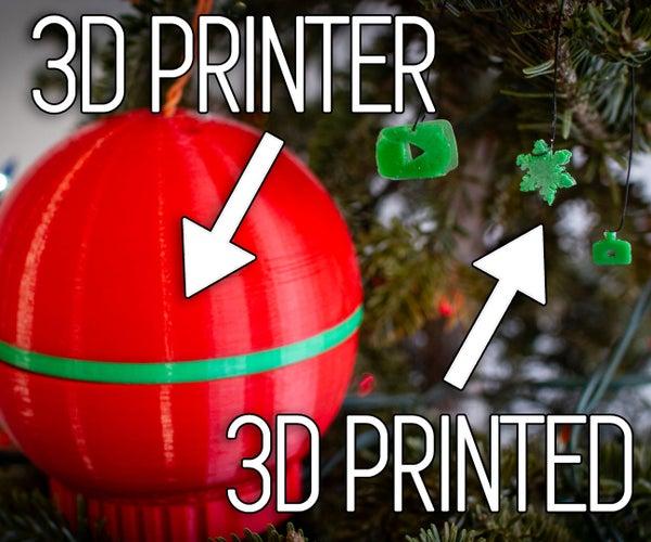 Christmas Ornament That 3D Prints Christmas Ornaments