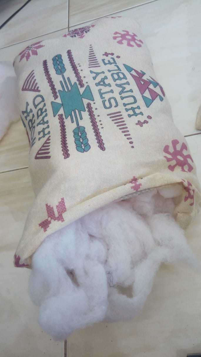 Making the Pillow Cush