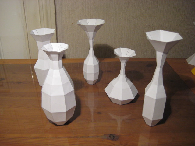 How to make a Paper Vase without curves