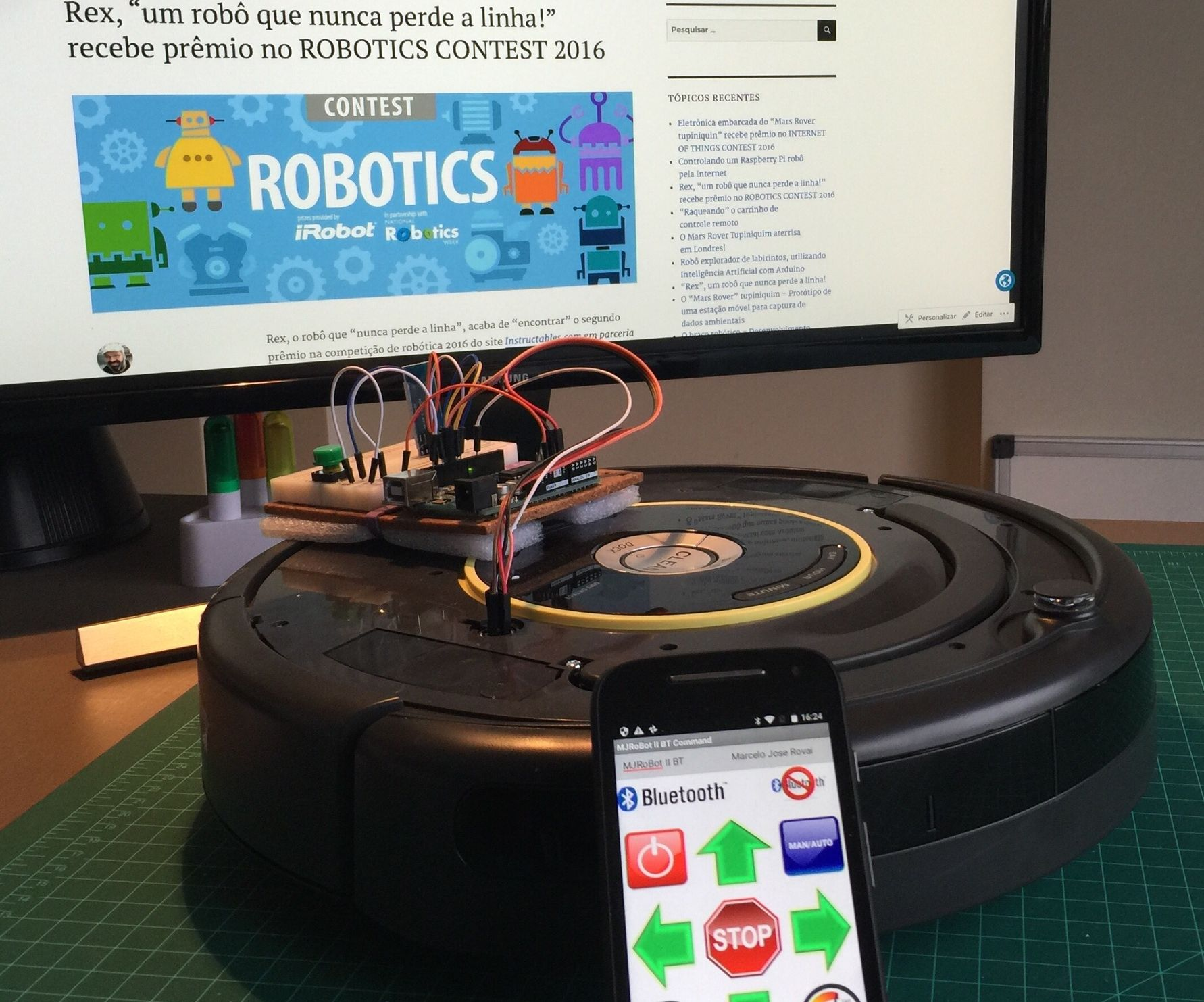 Controlling a Roomba robot with Arduino and Android