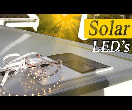 Light Up Rooms With Solar Power - DIY 10$ Project