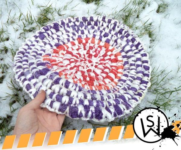 Crocheted Rug From Vegatable Mesh Bags