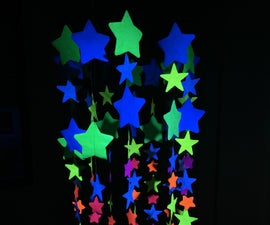 My Project: Make a Music Playing Mobile With Glowing Multi-Colored Paper Stars!