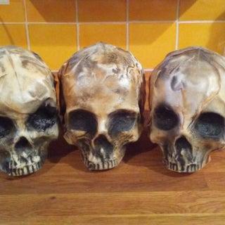 Milk Jug Skulls