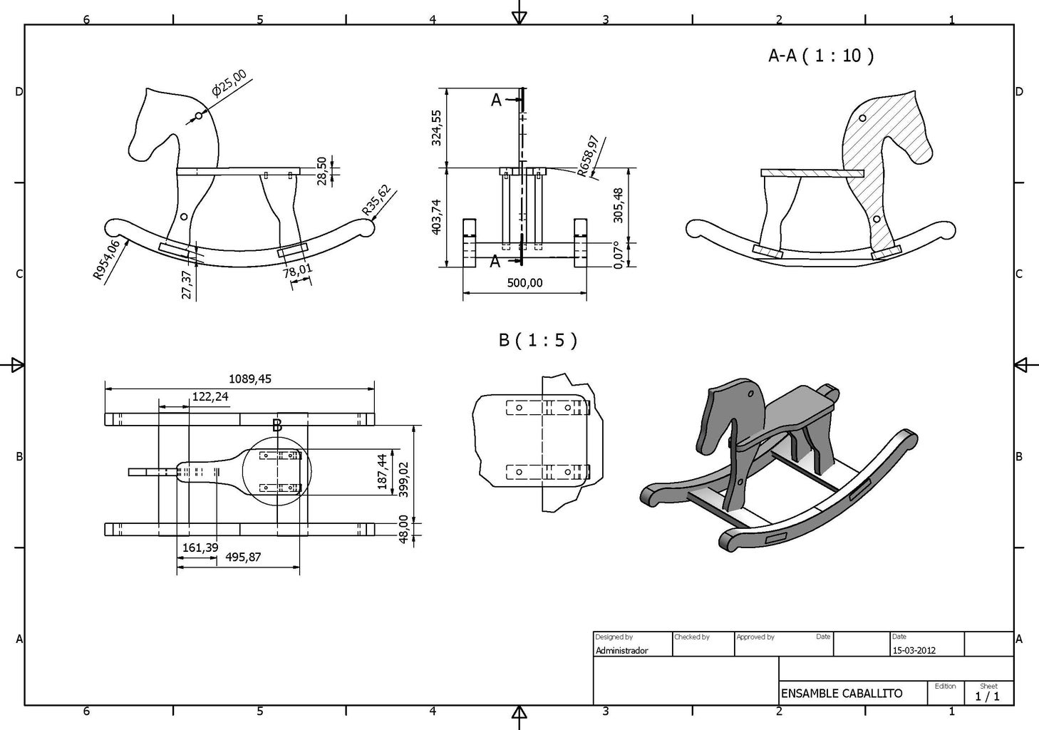 Assembly Drawings Horse