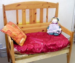 Sofa Made From a Bed Frame