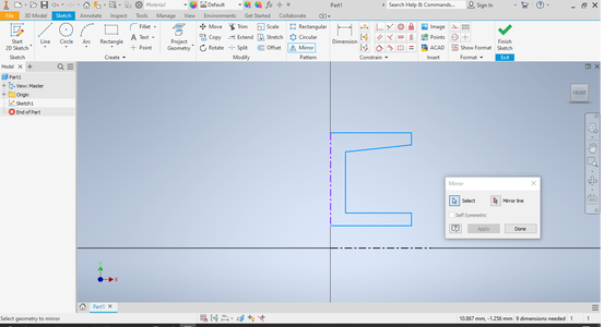Select Mirrored Components