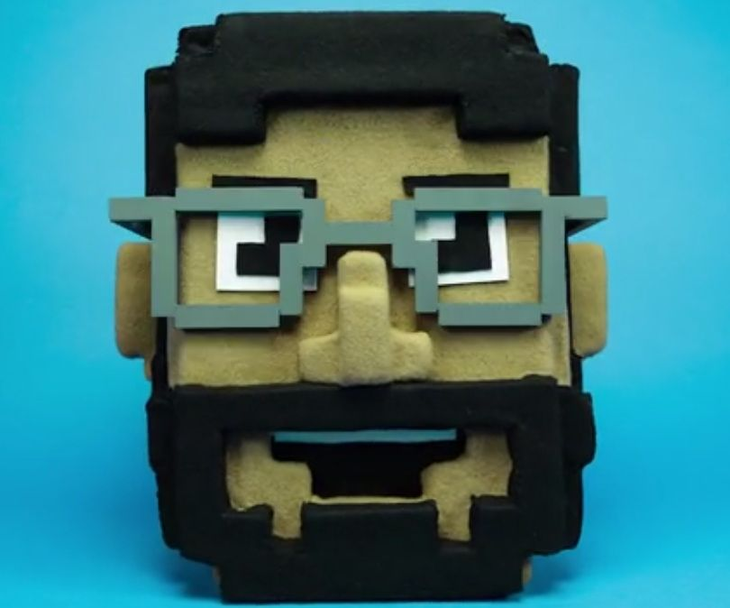 Pixelated (The making of a mask and a stop motion video)