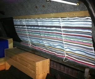 DIY Rag Rug Roll-Up Blinds