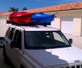 Car Top - 2 Kayak Rack (roof Rack Cars Only) About 30 Bucks...