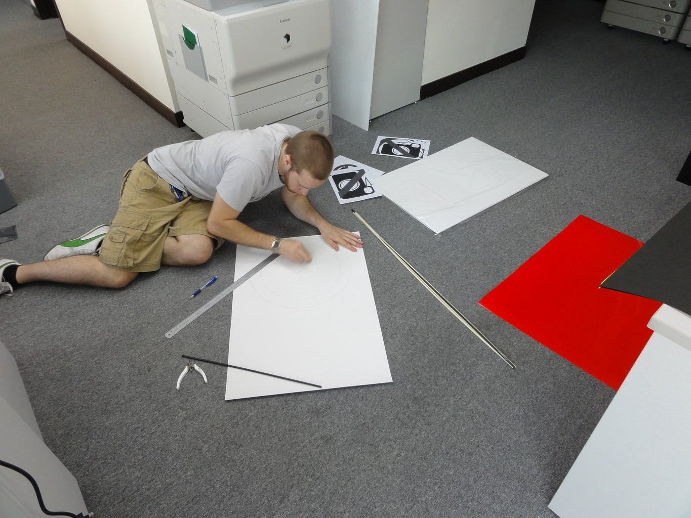 Cutting Out Shapes for the Costume