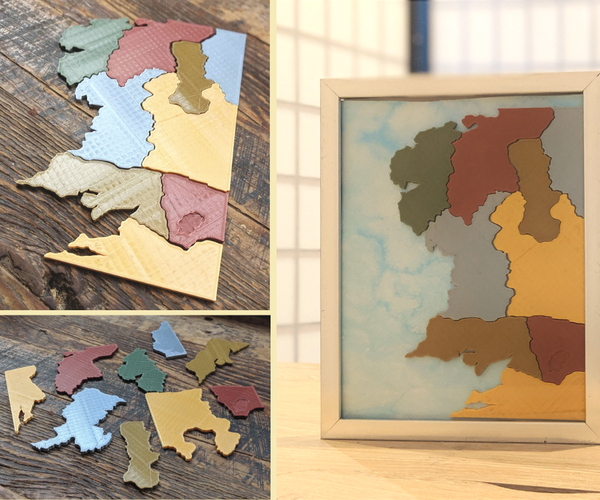 3D-printed Middle Earth Map Puzzle