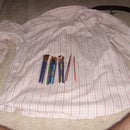 Recycle an old shirt, sew a pen roll