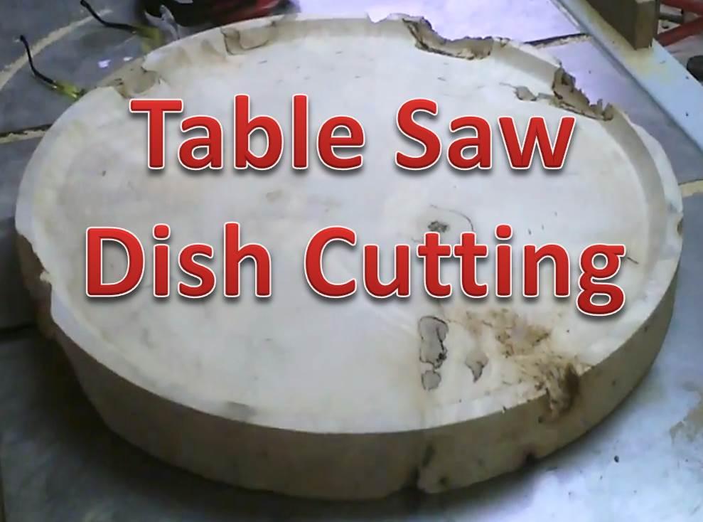 Deep Dish Cove Cut Slab Table Top Experiment