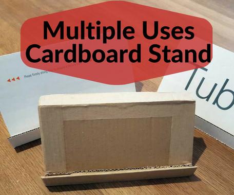 Multiple Uses Cardboard Stand