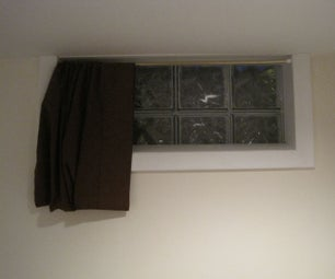 3 Minute No Sew Basement Curtain