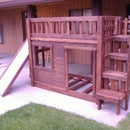 DIY Bunk Bed Set, With Stairs, Cubbie Shelves and of Course.....a Slide!
