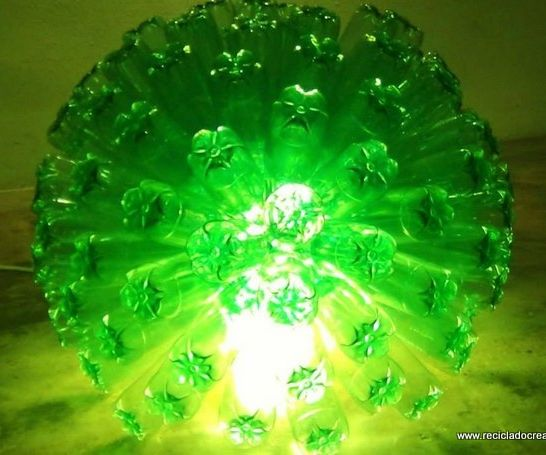 Lamp Made Out of 125 Plastic Bottles