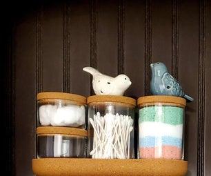 DIY Colored Bath Salts
