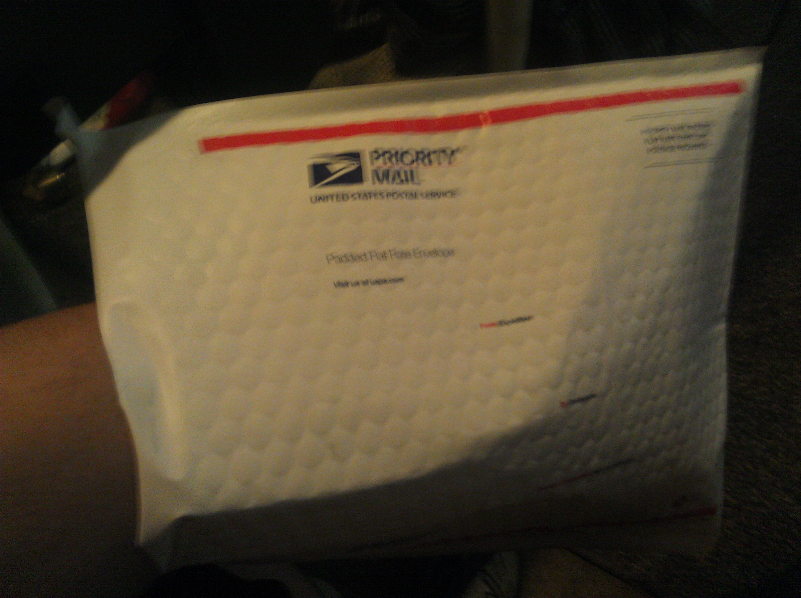 Flat Rate Padded Envelope Into First Class Padded Bag