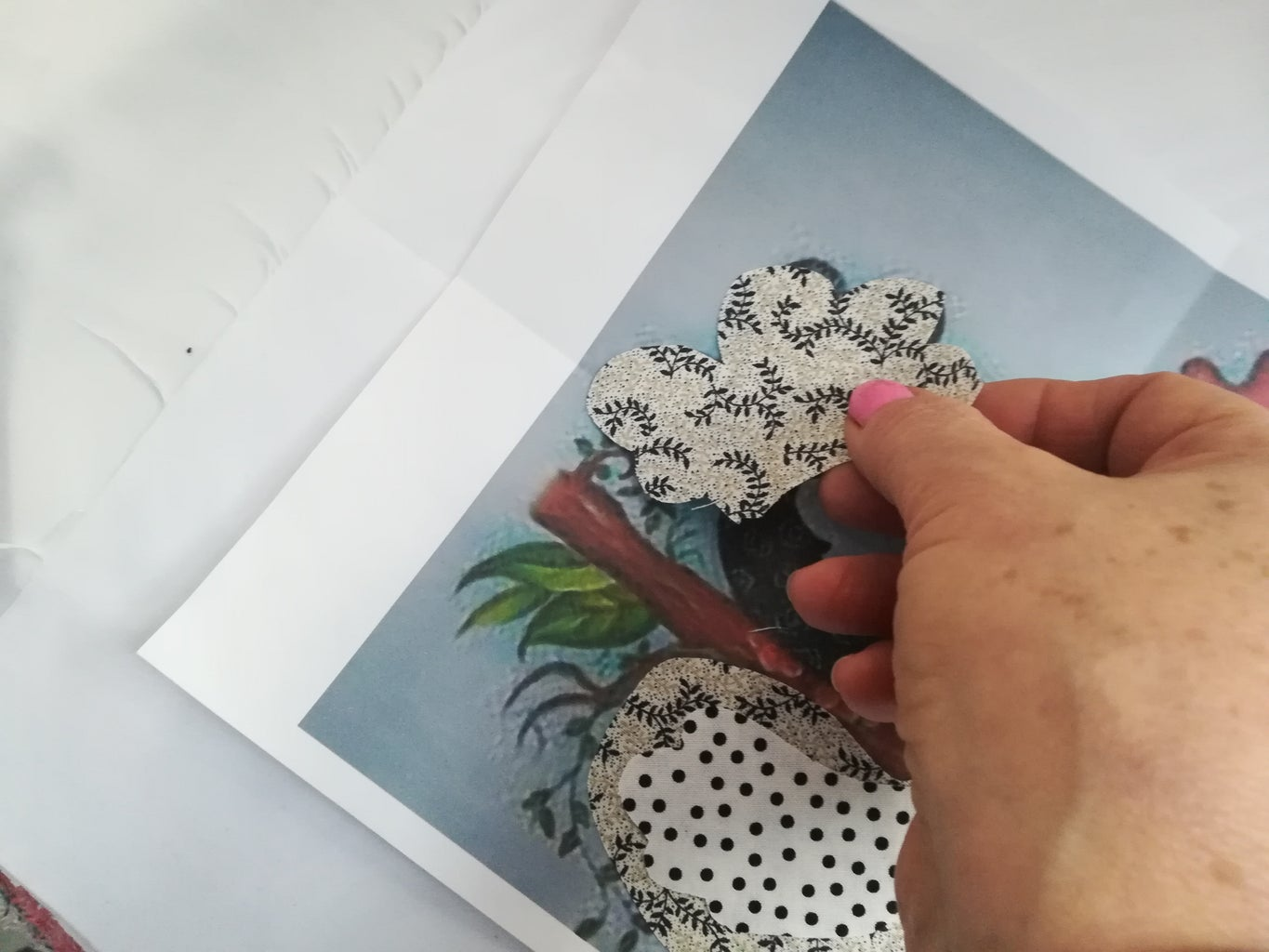 Cut Pieces on the Fabric