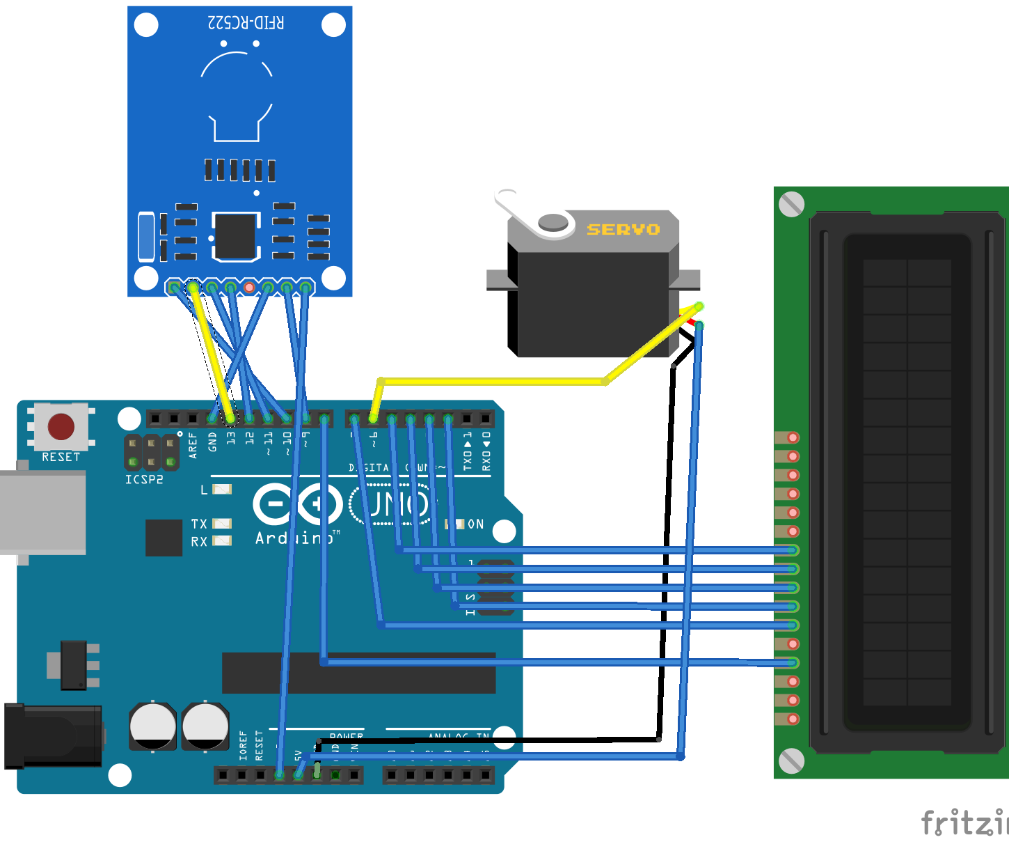 RFID DOOR ACCESS CONTROL WITH COUNTER
