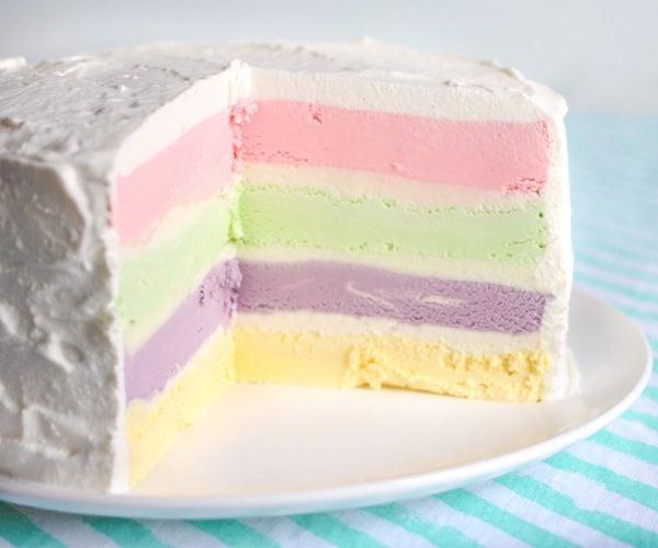 Rainbow Ice Cream Cake Recipe