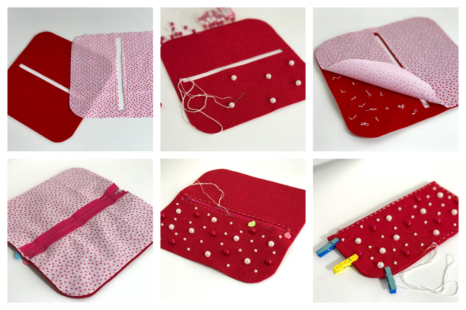 Tip: for Embroidered Pouch You Need to Get Started With Bead Embroidery and After Hide All Knots Under Lining.