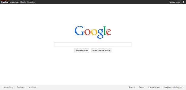 Google Pig Latin Interface