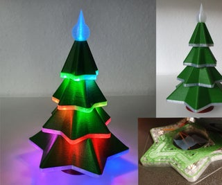Embedded LED 3D Printed Christmas Tree