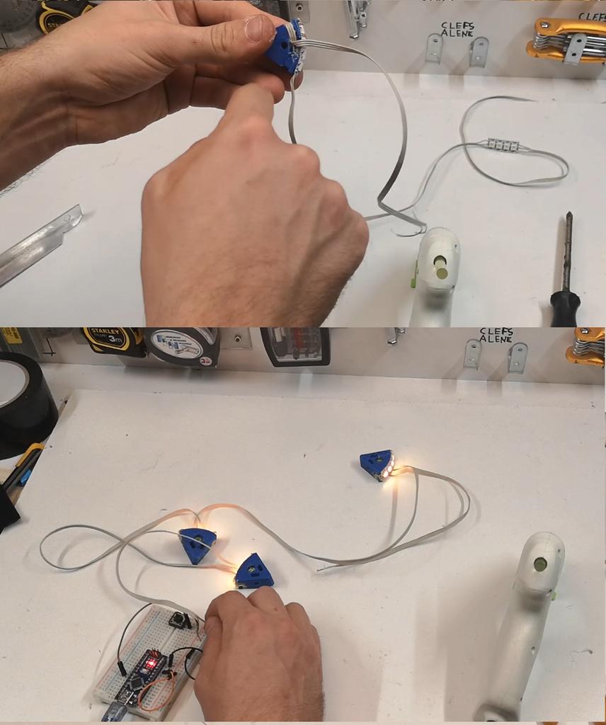 Montage Des Bandes LEDS Sur Impression 3D/  Assembly of LEDS Strips on 3D Printing