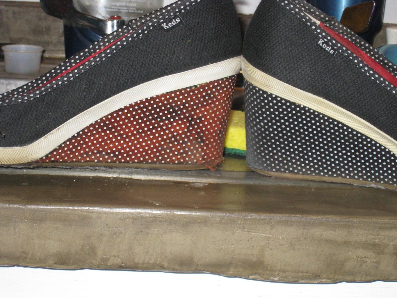 Cheap Shoes...wash, Bleach, Rinse, Dry...