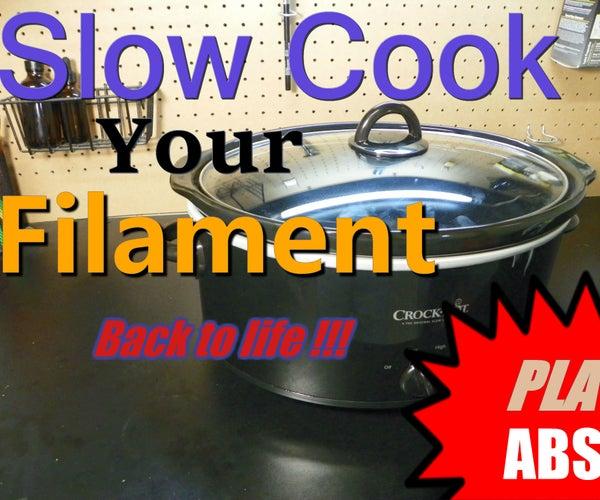 Vacuum Slow Cooker Filament Restoration