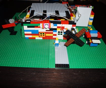 LittleBits Lego House With Garage Door Opener, Windmills and Doorbell